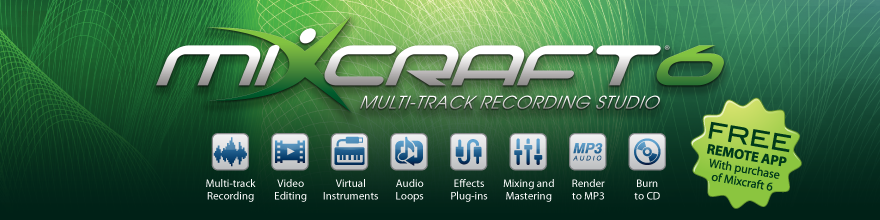 Mixcraft 6 Music Recording Software