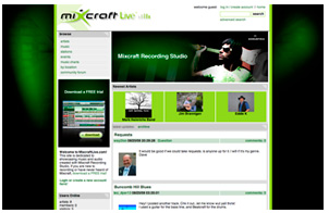 MixcraftLive.com screenshot