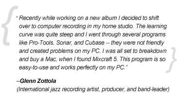 Mixcraft 5 testimonial