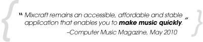 Computer Music reviews Mixcraft 5