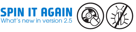 What's new in Spin It Again version2.5?