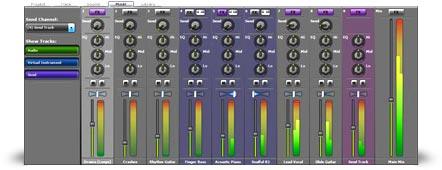Mixcraft 5 mixer interface