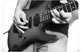 Guitariste avec Mixcraft 6