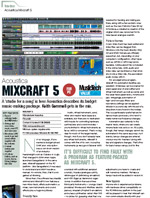 Mixcraft 5 review -- Music Tech Magazine