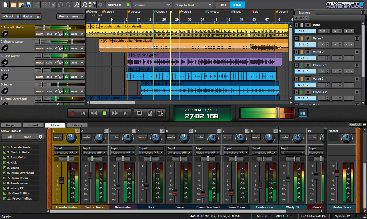 Mixcraft 8 Home Studio - Music Recording Software | Acoustica