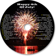 We normally watch the fireworks at Bass Lake, near the south entrance of Yosemite and I had some images from the previous year.  I created an awesome CD label with music tracks.�