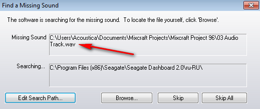 how to delete missing audio files