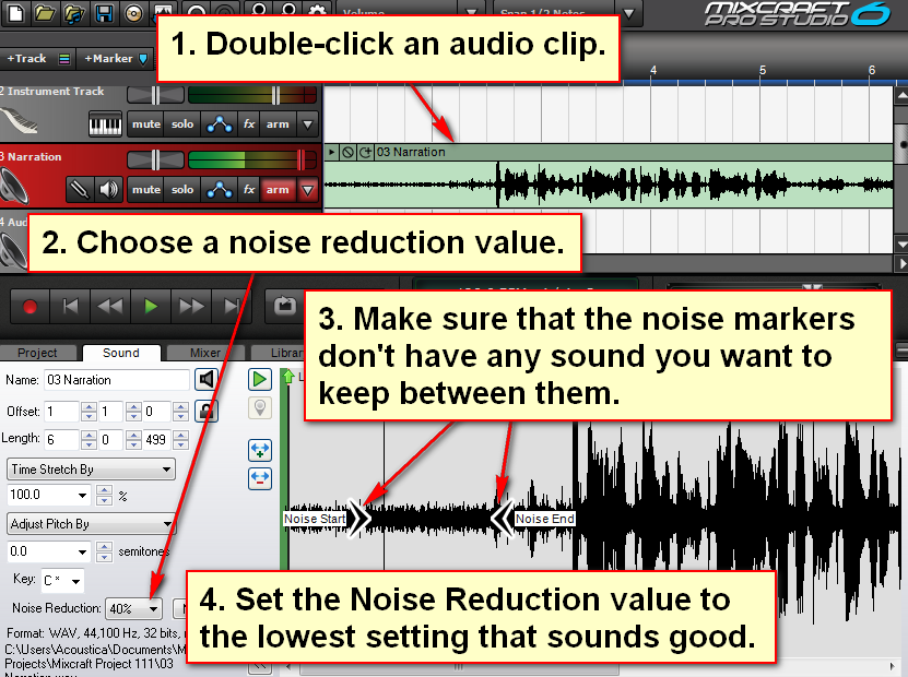 Will Mixcraft 7 Have Noise Reduction/Removal? - Acoustica