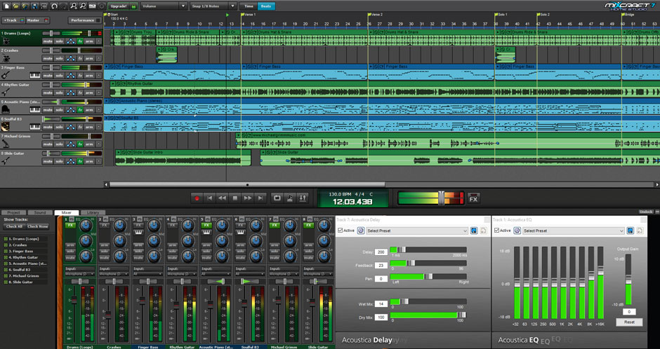 Mixcraft 8 Home Studio Music Making Software Screenshot