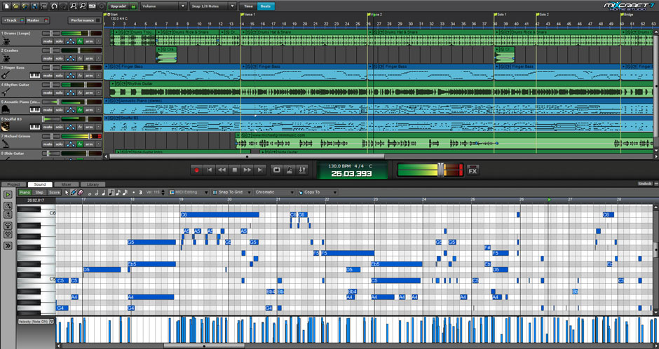 Mixcraft 8 Home Studio Music Make Software Screenshot 2