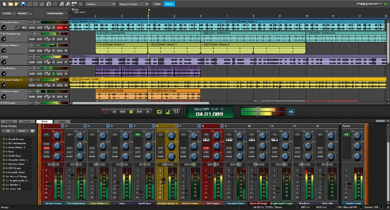 Mixcraft Screen shot