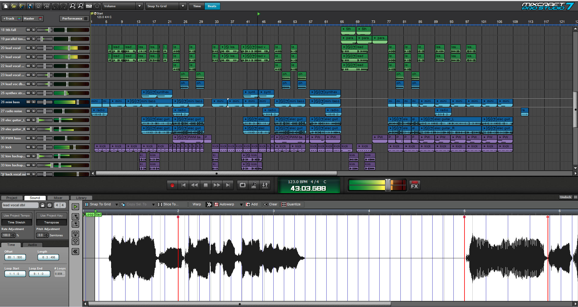 Mixcraft Pro Studio 7 Music Production Software Acoustica