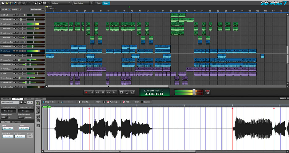 Mixcraft 8 Pro Studio Beat Making Software Screenshot 4