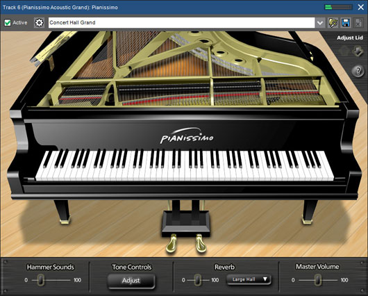 Mixcraft 8 Pro Studio Peerless Piano - Pianissimo Virtual Grand Piano