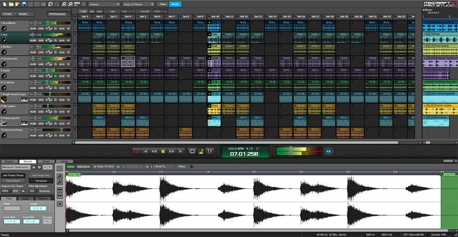 Mixcraft 8 Pro Studio Music Production Software Screenshot 4